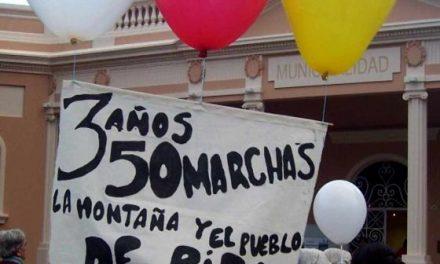 Esquel: 50 marchas del No a la MIna y Tercer Aniversario del Plebiscito