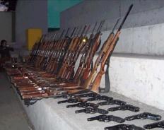 Incautan armas y munición de guerra de minera Yanacocha