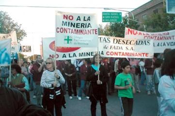 Multisectorial de Gral.Alvear: la minería de oro es inmoral e inaceptable.