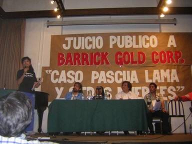 Tribunal  Público sentenció a Barrick Gold Corp. a su expulsión de los territorios de Argentina, Chile y Perú