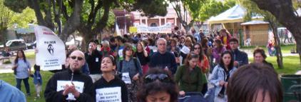 Categórica marcha en Esquel en contra de la judicialización del NO A LA MINA