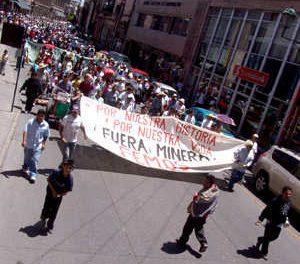 Marcharon en San Luis Potosí contra minera San Xavier y por la liberación de manifestantes
