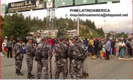 Llevan dos días de levantamiento nacional contra las concesiones mineras en Ecuador
