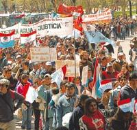 Los campesinos marcharon sobre Buenos Aires contra el modelo de saqueo