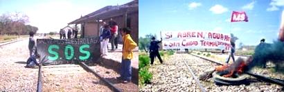 Vecinos detienen al tren que es símbolo del saqueo minero en Argentina