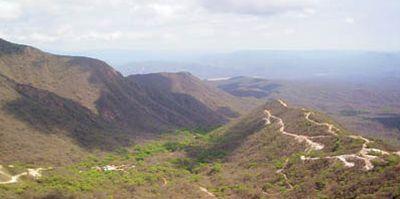 Vista aérea del área de exploración de Alexander Gold en Cerro León