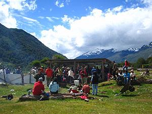 Masiva Reunión de AGUAS LIBRES en El Espolón, Patagonia chilena.