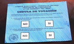 Rotundo triunfo del NO A LA MINERIA en la CONSULTA POPULAR en Candarave, departamento Tacna al sur de Perú.