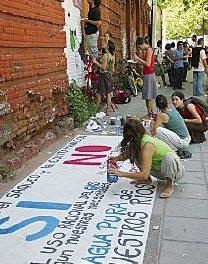 Se realizó una jornada de expresión artística y de reflexión contra el proyecto Potasio Río Colorado