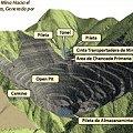 Representación del yacimiento Agua Rica al finalizar la explotación (fuente: Agua Rica S.A.)