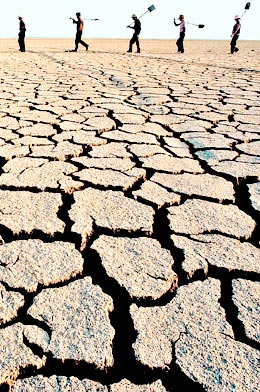 La tierra seca