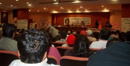 Asamblea nacional de la Coordinadora en Cuenca