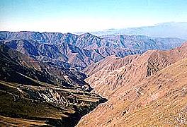 Vista del área de exploración del yacimiento Agua Rica