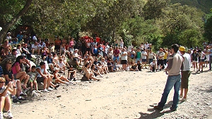Difusión de problemática minera con los turistas