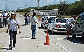 Realizaron corte de ruta informativo en San Luis