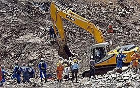 Derrumbe en mina de oro colombiana deja al menos ocho muertos.