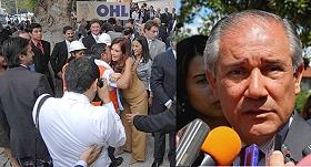 Izq.: prisidenta Cristina Fernandez en inauguración hospital,. der: gobernador Walter Barrionuevo