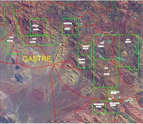 Bloque de 'propiedades Gastre' de Patagonia Gold, incluído en Informe de Impacto Ambiental