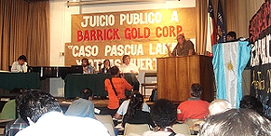 Popular trial against Barrick Gold, Chile december 2006.