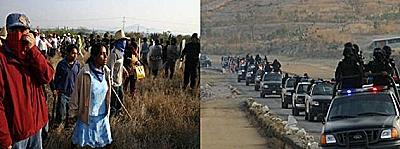 Violento desalojo de plantón contra mina con 19 detenidos