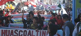 Marcha Masiva Contra Pascua-Lama en Vallenar