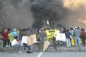 Protestas de las comunidades del Choapa por contaminación minera