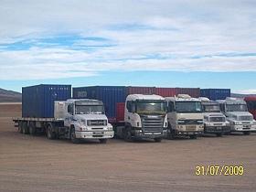 Camiones con la carga de plata de Mina Pirquitas