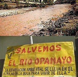 Ríos Opamayo y Lircay contaminados por mineras Buenaventura y Caudalosa