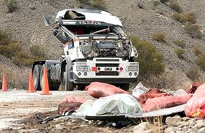 Choque y derrame de combustible con destino a Veladero