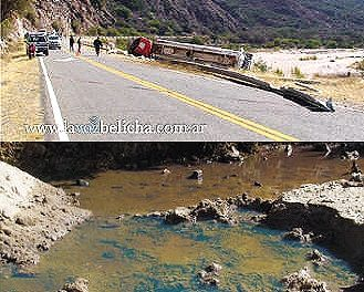 Volcó un camión con 40.000 litros de gasoil para mina Alumbrera
