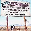 Advertencia en Abra Pampa