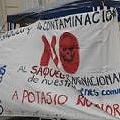Instalan carpas en la Legislatura de Mendoza contra la minería contaminante.