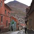 Calle potosina y Cº Rico al fondo