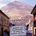 Protestas en Potosí contra minera de EEUU