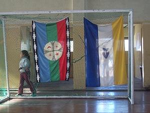 Paso de Indios, banderas pueblos originarios
