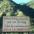 Rechazo a política pro-minera del presidente Correa