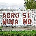 Agricultores niegan agua para proyecto Quellaveco