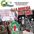 Afiche contra proyecto minero Tia María