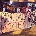Marcha contra gobernador pro minero