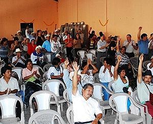 Asamblea por la contaminación del río Cuilco por la minera