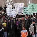 Protesta contra la minería a gran escala en Hualgayoc (archivo)
