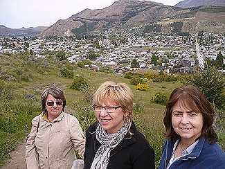 Marta, Nilda y Chuni vecinas de Esquel