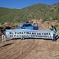 Corte en Huella Minera en Chilecito