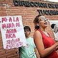Protesta en Dirección de Minería por mineraloducto de Agua Rica
