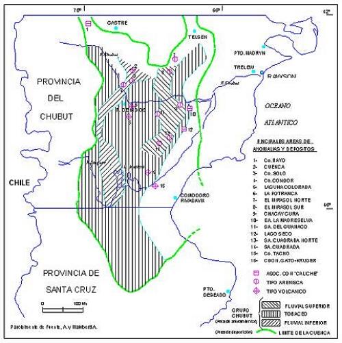 La gran cuenca uranífera de Chubut y Santa Cruz