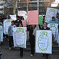 Manifestación de desagravio al Gra.San Martín y contra la megaminería