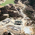 Vista aérea de un sector de Mina Marlin (Goldcorp)