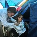 Huelguista contra mina de Crucitas fue hospitalizada