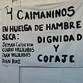 58 días de huelga de hambre ¡Caimanes no se rinde caramba!