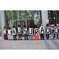 Opositores a Pascua Lama realizaron cierre simbólico de faenas en oficinas de Barrick Gold